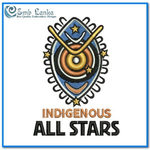 Indigenous All Stars  Rugby League Team Logo Embroidery Design Logos