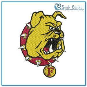 Ferris State Bulldogs Football Team Logo 300x300, Emblanka