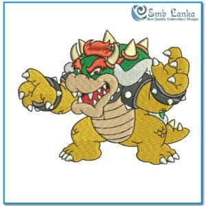 Mario Character Bowser 2 Embroidery 300x300, Emblanka